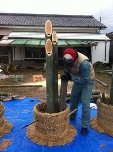 鹿児島 植木屋 門松制作